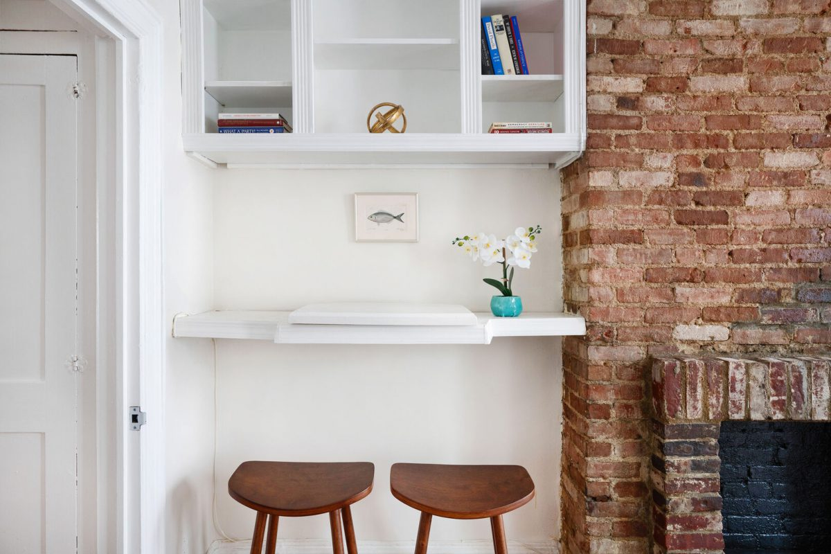 small nook for home office in new york city apartment