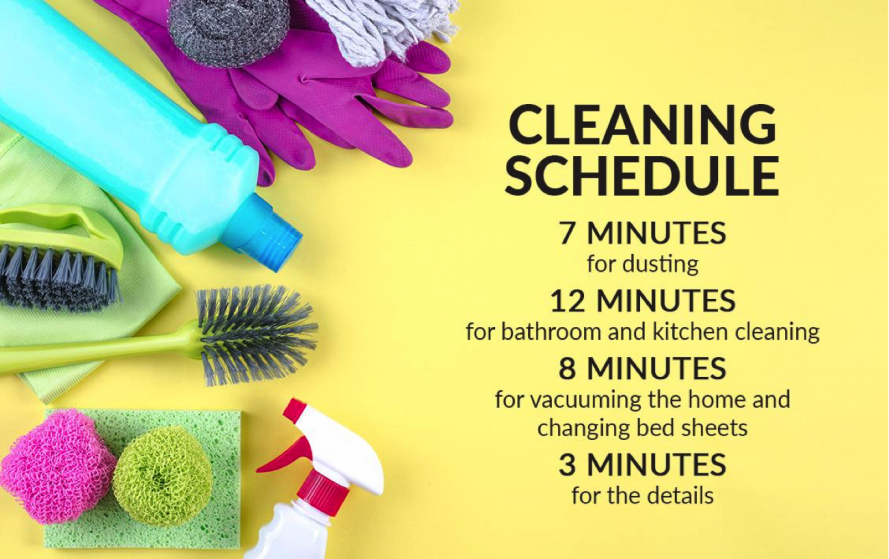 Cleaning Plan for a 30-minute clean