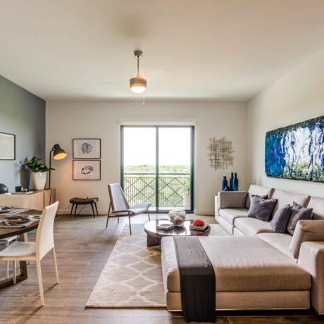 Residences at THesis Miami living dining room