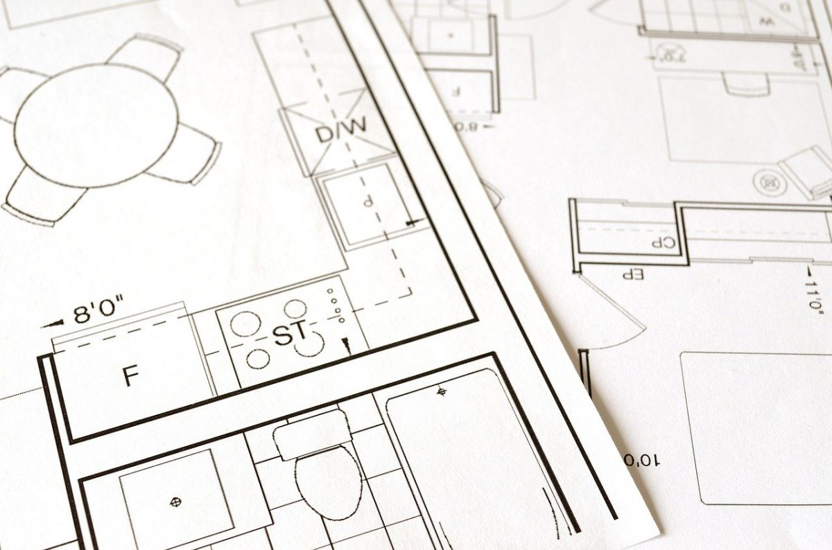 a floor plan for use during interior design consultation